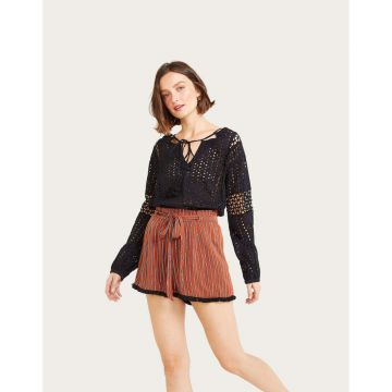 Short Viscose Listrado - Shoulder