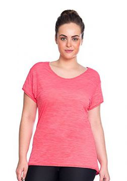 Camiseta Plus Baby Look Rosa