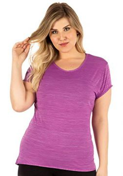 Camiseta Plus Baby Look Roxo