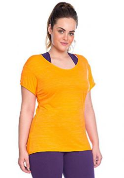 Camiseta Plus Baby Look Laranja