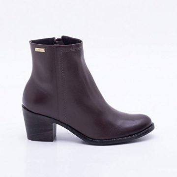 Ankle Boot Couro Marrom 40