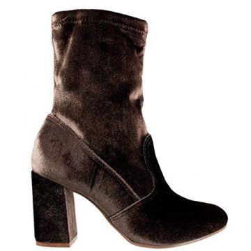 Bota Feminina Via Marte Veludo Stretch 17-4401