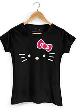 Camiseta Hello Kitty White Black