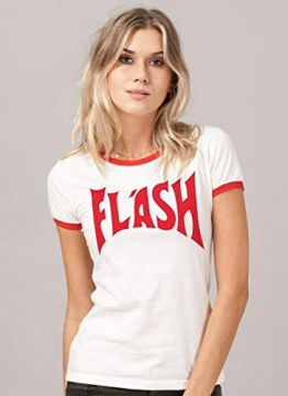 Camiseta Ringer Feminina Queen Flash Red