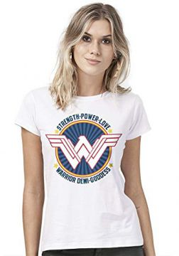 Camiseta Feminina Wonder Woman Warrior Demi Goddess
