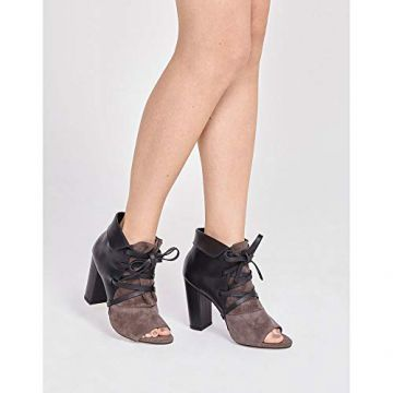 ANKLE BOOT LEATHER-PRETO-38