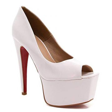 Sapato Zariff Peep Toe Shoes Salto Fino