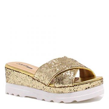 Tamanco Zariff Shoes Plataforma Glitter