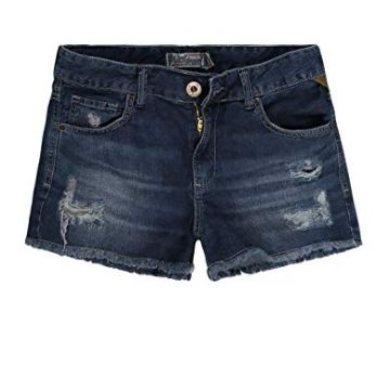 SHORT JEANS FEMININO DESTROYED CINTURA ALTA KHELF