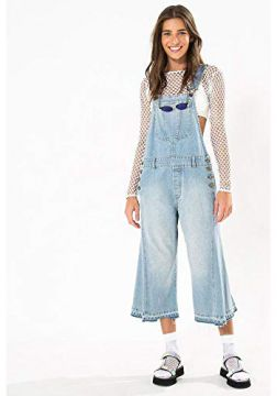 Jardineira Flare Cropped Jeans