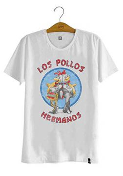 Camiseta Breaking Bad Los Pollos Hermanos Branca