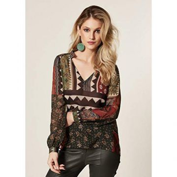BLUSA ESTAMPA GEOMETRIC FLOWERS Estampado