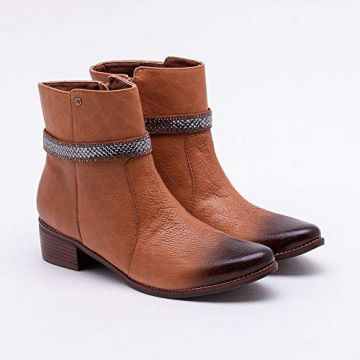 Ankle Boot Couro Camel 37