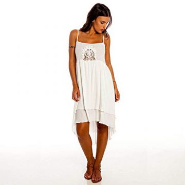 Vestido Indian Feminino Hang Loose Off White