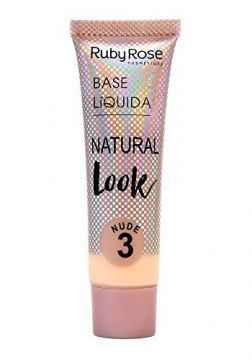 Base Líquida Ruby Rose Natural Look Nude 3 HB-8051-29ml