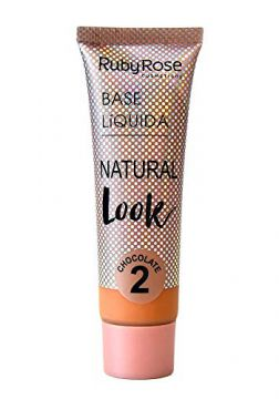 Base Líquida Ruby Rose Natural Look Chocolate 2 HB-8051-29ml