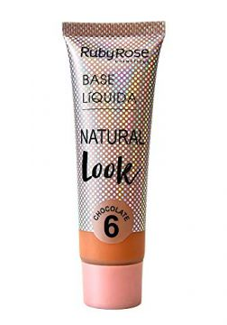 Base Líquida Ruby Rose Natural Look Chocolate 6 HB-8051-29ml