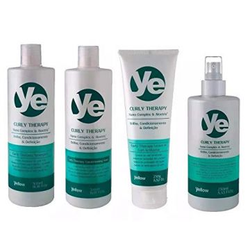 Kit Completo Yellow Curly Therapy Activator Cachos