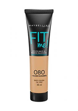 Base Líquida Fit Me Cor 080, Maybelline, Claro