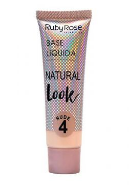 Base Líquida Ruby Rose Natural Look Nude 4 HB-8051-29ml