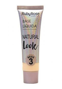 Base Líquida Natural Look Bege 3 Ruby Rose HB-8051