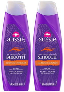 Kit com 2 Condicionadores Aussie Miraculously Smooth 400ml