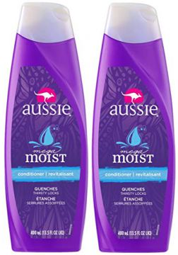 Kit com 2 Condicionadores Aussie Moist 400ml