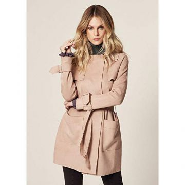 TRENCH COAT SUEDE Camel