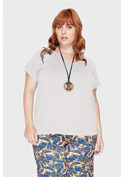 Blusa Collor Plus Size Off White-48/50