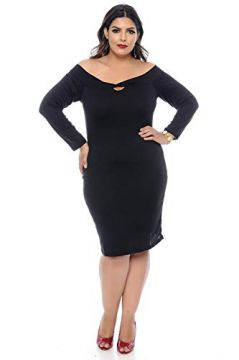 Vestido Tubinho Plus Size Night Out-52