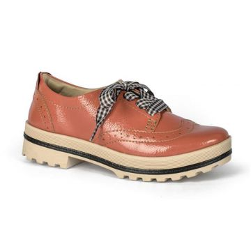 Sapato Dakota Oxford Verniz Coral - Dakota