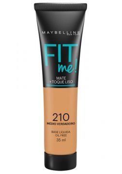 Maybelline Base Líquida Oil Free Fit Me! Cor 210 Médio Verda