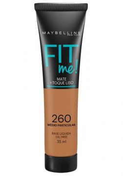 Maybelline Base Líquida Oil Free Fit Me! Cor 260 Médio Parti
