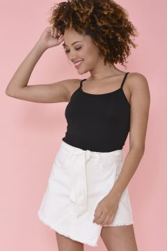Blusa Cropped Basic - Preto - Aquamar