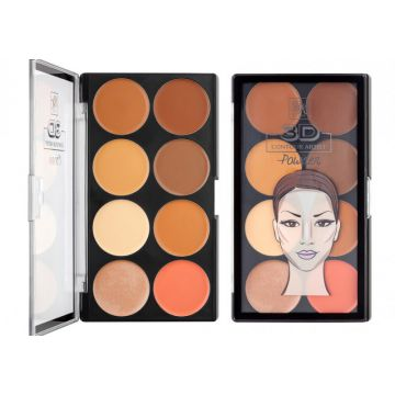 Contour Powder Palette By Ruby Kisses Rpcp01br - Light Mediu