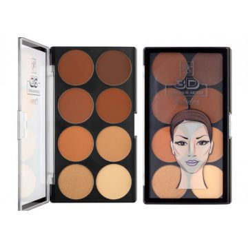 Contour Powder Palette By Ruby Kisses Rpcp02br - Medium Dark