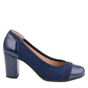 Scarpin Sport Tramado Royal Comfort Marinho - Mr Cat