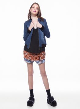 jaqueta jeans bomber - myft
