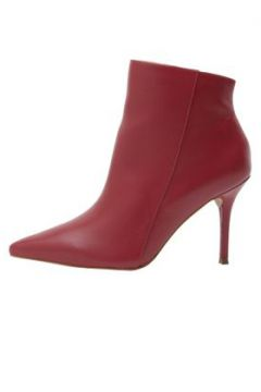 Ankle Boot Bico Fino Vermelho - My Shoes