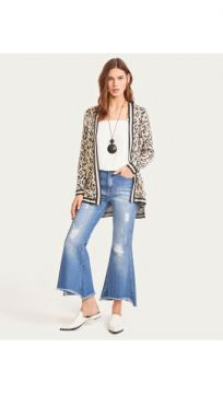 Calca Jeans Flare Cropped - Shoulder