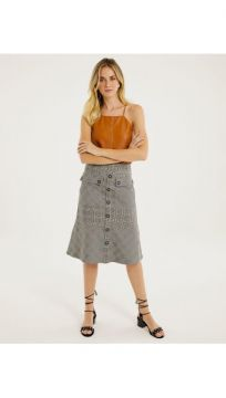 Saia Midi Xadrez - Shoulder
