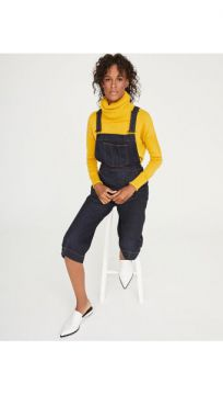Macacao Jeans Botoes - Shoulder