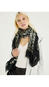 Lenco Animal Print Cinza - Shoulder