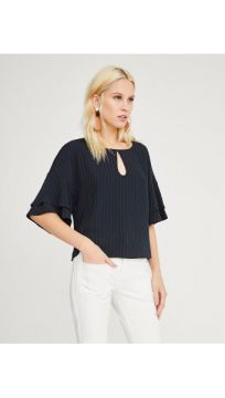 Blusa Crepe - Shoulder