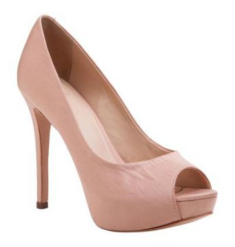 Peep Toe Cetim Alto - My Shoes