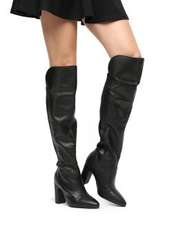 1c4771f32 Bota Over The Knee Vizzano Bico Fino Feminina