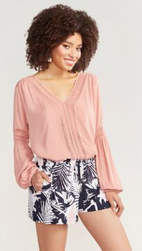 Short Viscose Folhagem - Shoulder
