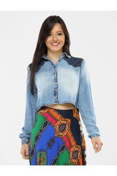 Camisa My Favorite Things Cropped Jeans Claro