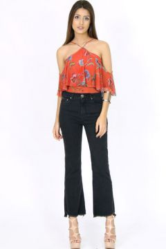 Calça Flare Cropped Jeans Collor - Caos
