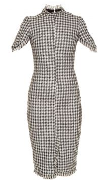 Vestido Midi Tweed Bordado Iorane